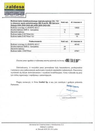 """""""Sieć Szerokopasmowa Polski Wschodniej – województwo lubelskie"""" Obszar inwestycyjny """"F-Kraśnik"""""""