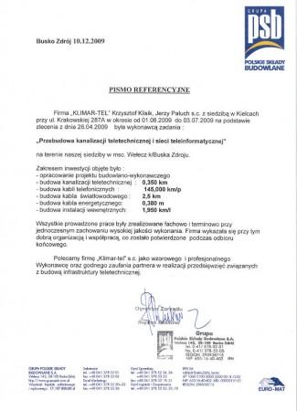 PSB Przebudowa kanalizacji teletechnicznej i sieci teleinformatycznej