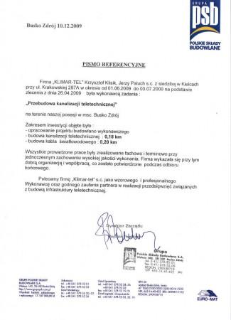 PSB Przebudowa kanalizacji teletechnicznej w Busku-Zdroju